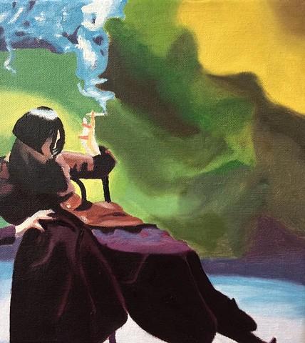 Study Of Susie Smoking By Nick Knight