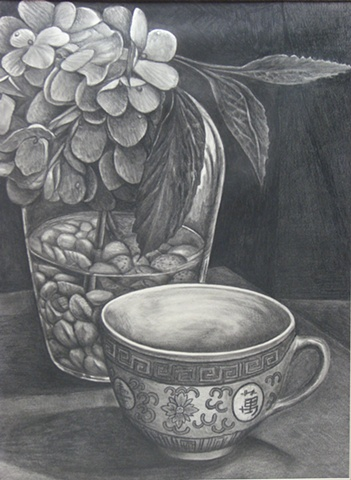 Hydrangea and Teacup