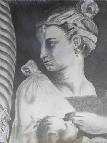 Detail Study from Cartoon For The Tapestry Of The Healing Of The Lame Man by Raphael