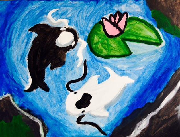The Yin Yang Koi Fish of Heaven & Earth