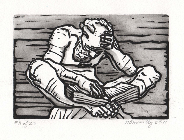 relief block print after Mestrovic, Washington DC