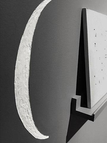 Absence (wall detail) - engraved punctuation mark