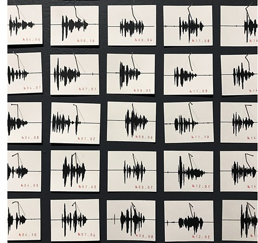 Sound Drawings (Harvard Sentences) -detail