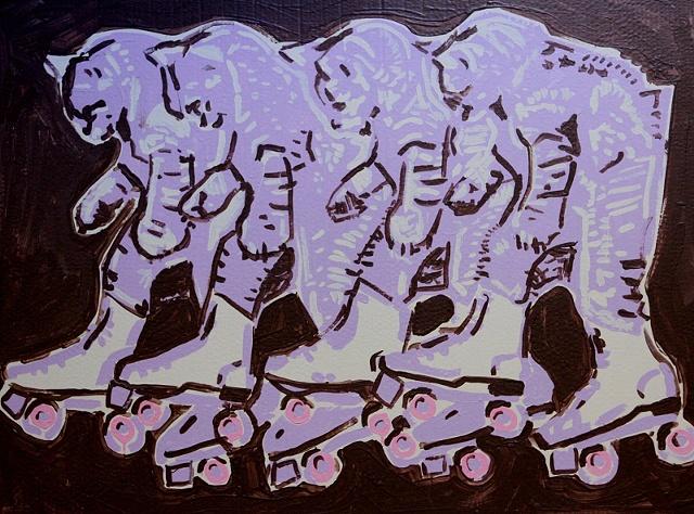 roller kittens pop art
