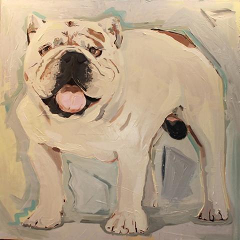 commissioned English Bulldog painting