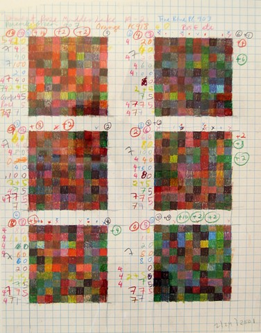 Six red squares: rules