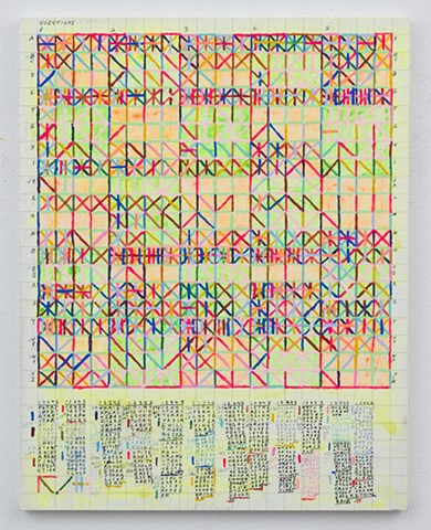 contemporary painting, text art, conceptual art, geometric painting, color, grid, rules, diagrammatic, mapping, color structure, pattern, found language, systems, rules