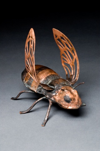 Copper honey bee