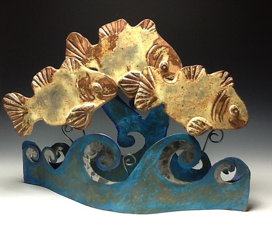 Ceramic and steel sculpture
