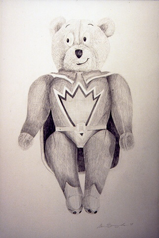 Graphite drawing of Teddy Bear
