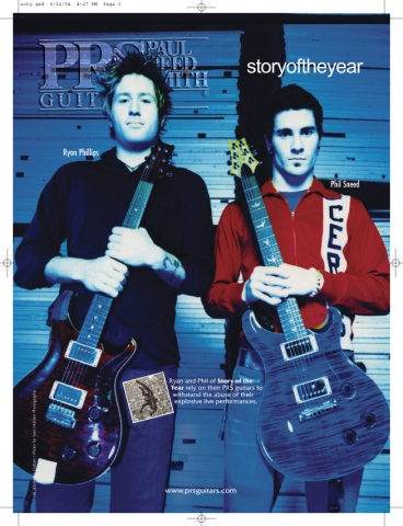 STORY OF THE YEAR prs guitars