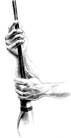 ed pollick, edward pollick, pollick art, pollick drawing, pollick painting, pollock, hands, drawing of hands, hands artwork, hands clipart, hands illustration, holding a gun, pollick artwork, pollick artist, las vegas, vegas artists, best vegas artists, o