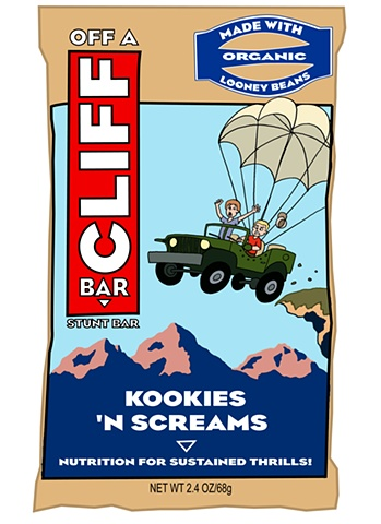 Cliff Bar, product spoof, ed pollick, edward pollick,