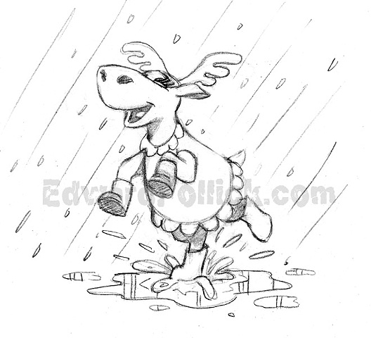 Dancing Moose in the Rain