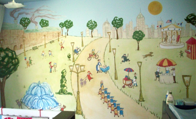 Nursery, Mural, ed pollick, las vegas, edward pollick, murals, artist, acrylic, painter, faux, children's, room, Orange county, Long Beach, Costa Mesa, Los Angeles, Santa Barbara, girls, boys, babies, baby's, bedroom