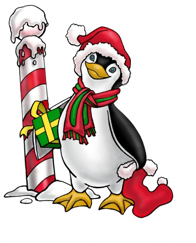 Chilly Christmas Penguin