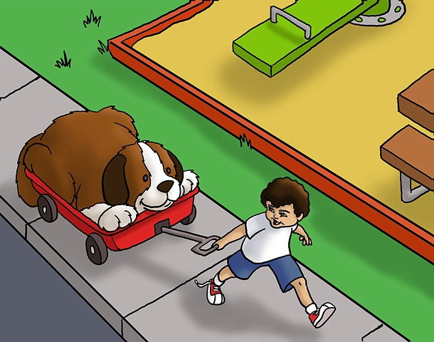 "Illustration for the children's book ""The Dog Who Wouldn't Bark"""