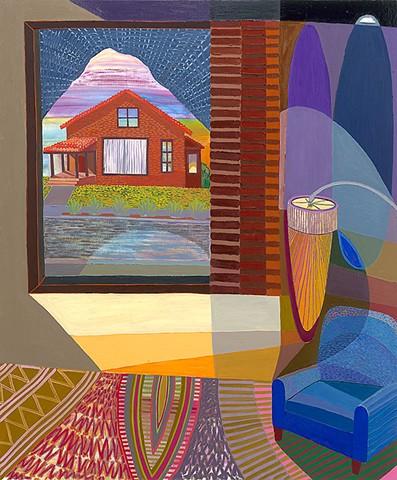 Karla Wozniak, Living Room 3 (Blue Chair)