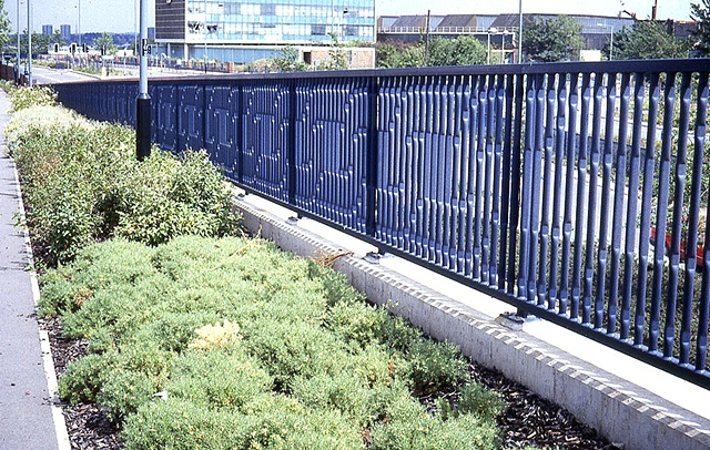 Black Country Route footbridge railings, Bilston