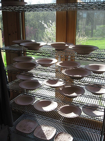 bisque ware drying