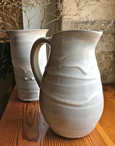 porcelain, pitcher, carol naughton ceramics,