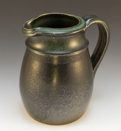 Ceramic Pitcher Porcelain Green and black glazes