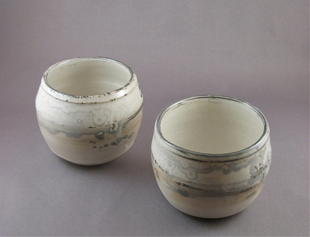 cups, shino, porcelain