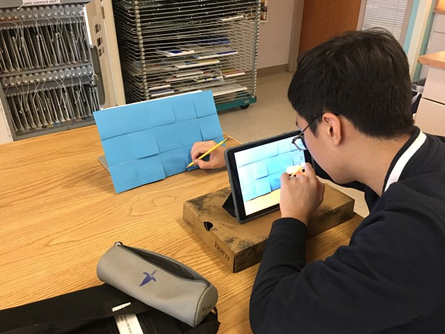 Student Stop-Motion animation process, grade 8