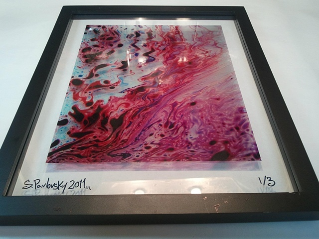 """River Fire"" Framed Transparency"