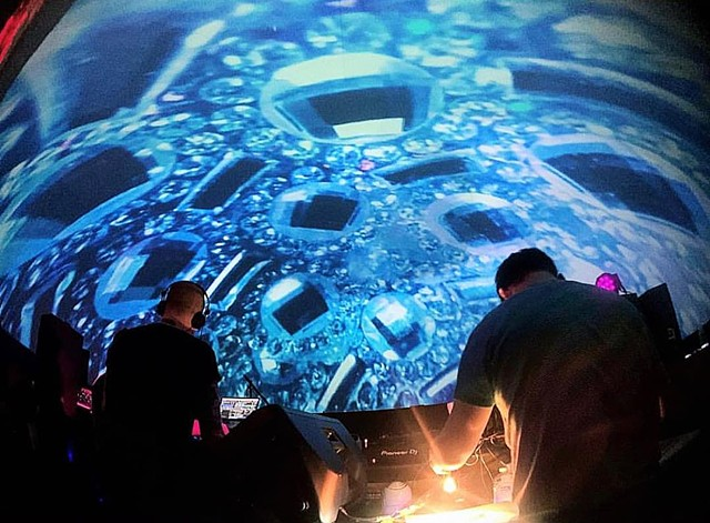 Liquid Light Lab at Art Basel 2018 - Miami  - Full Dome Projections