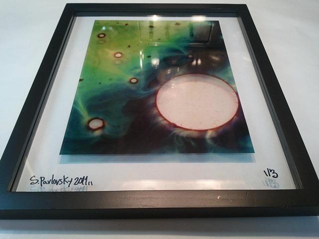"""Green Galaxy"" Framed Transparency"