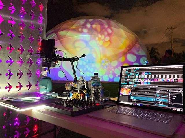 Miami Dome - Art Basel 2018 - Liquid Light Lab