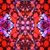 Crimson Clover - metal print