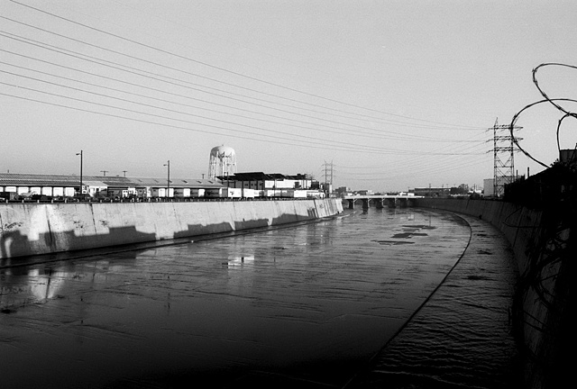 LA River, View of the City of Vernon