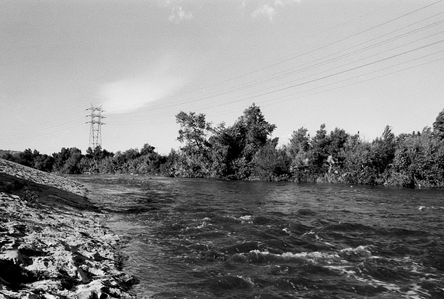 LA River, View Near Griffith Park, 1997