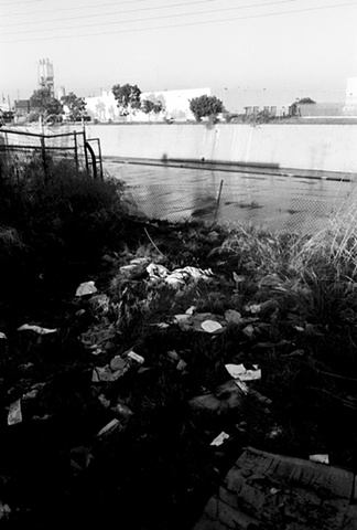 LA River, Garbage, Los Angeles, 1997