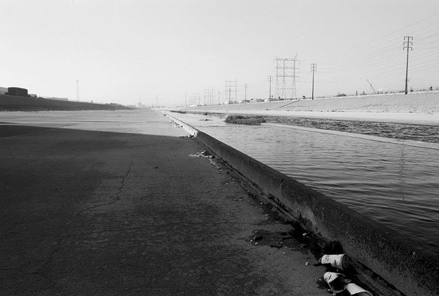 LA River, Bed & Discarded Beverage Cups