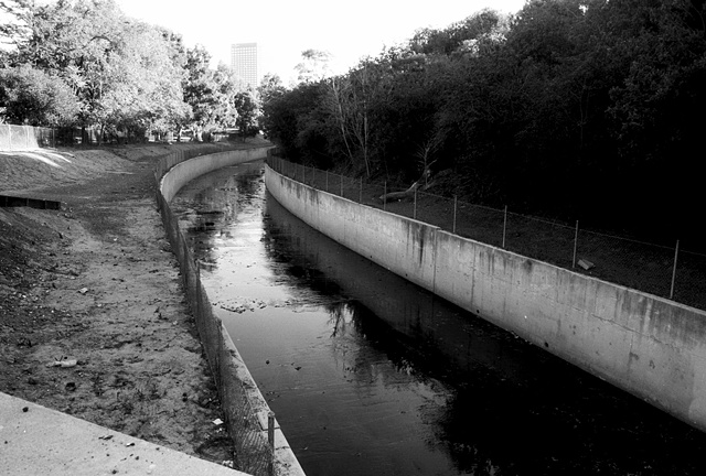 LA River, Concrete Trough, Near Universal Studios, 1998