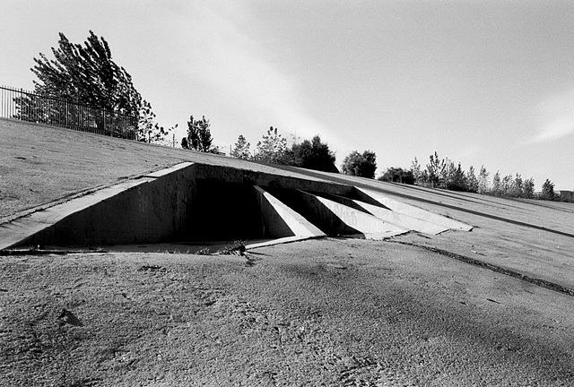 LA River, Drain, Near Griffith Park, 1997