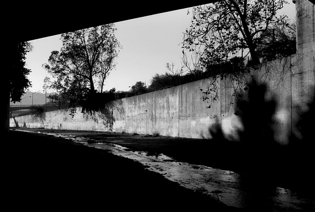 LA River, Two Trees, Near Highland Park, 1997