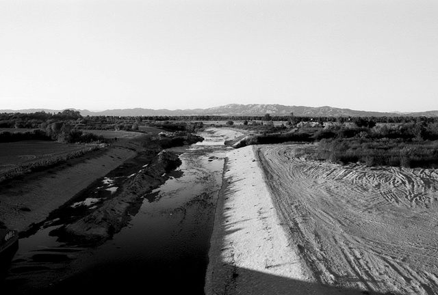 LA River, Santa Susana Mountains, Above the Sepulveda Dam