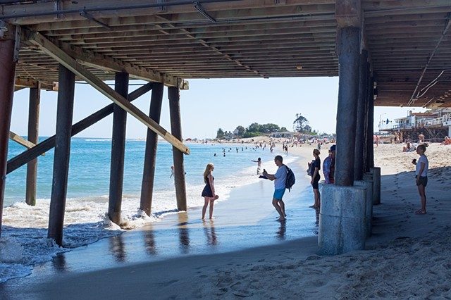 Tourists, Malibu Pier, Surfrider Beach