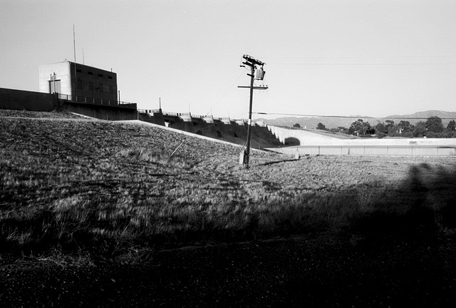 LA River, Telephone Pole, Sepulveda Dam View, 1998