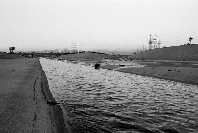 LA River, Downtown, View from South Central Los Angeles