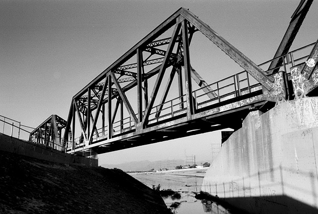 LA River, Metal Train Bridge, South Central