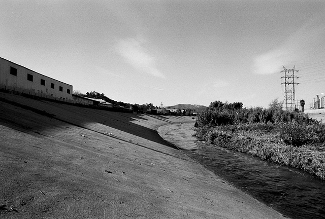 LA River, Hybrid Channel, Near Griffith Park, 1997