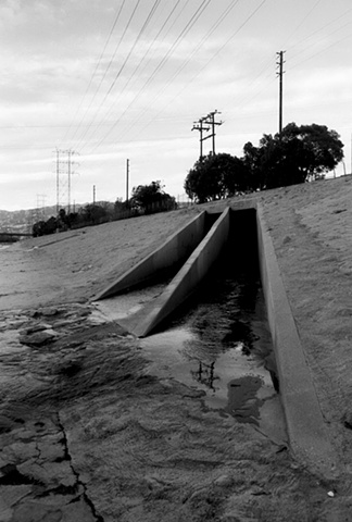 LA River, Drain, Near Glendale Narrows, 1997