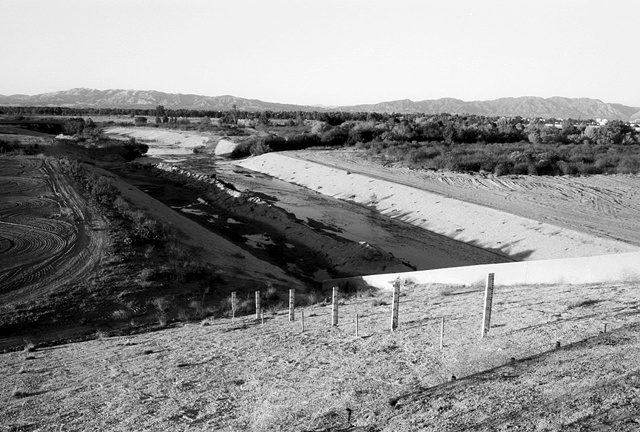 LA River, High Water Markers, Above the Sepulveda Dam, 1998