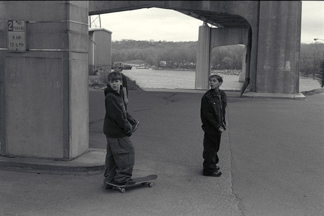 Skateboarders, Under Highway 61 Bridge, Hastings, Minnesota