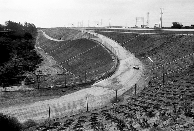 LA River, Terracing & Planting, Near the 710 Freeway